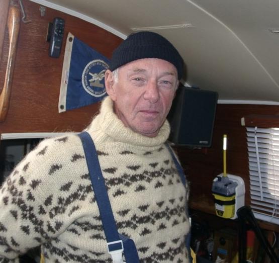 Chuck Husick aboard Bonne Etoile