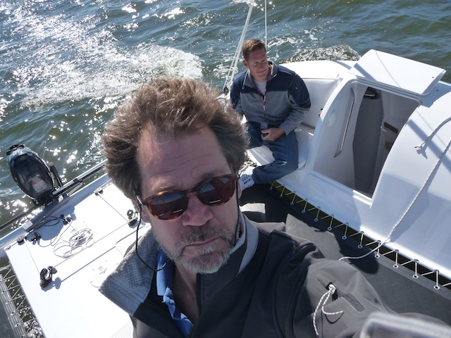 Sailing aboard the Radical Bay 8000