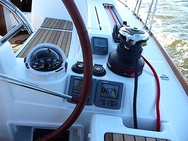Harken winch on Jeanneau SO 409