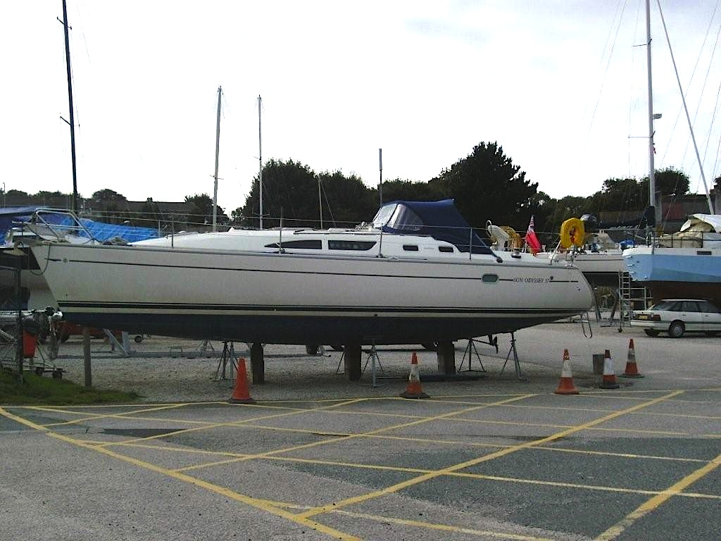Charter boat Polbream after losing keel