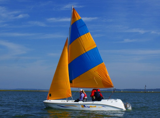 EzyBoat under sail