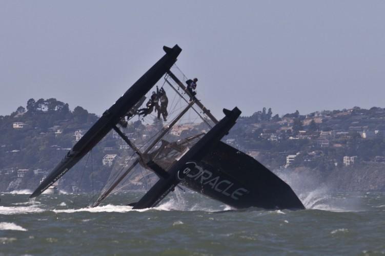 AC45 capsize