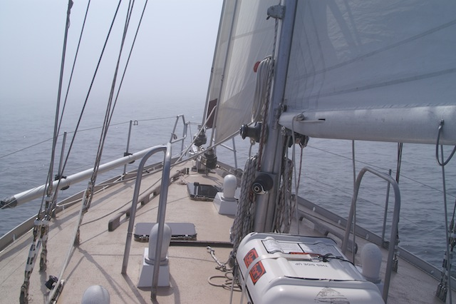 Sailing in the fog
