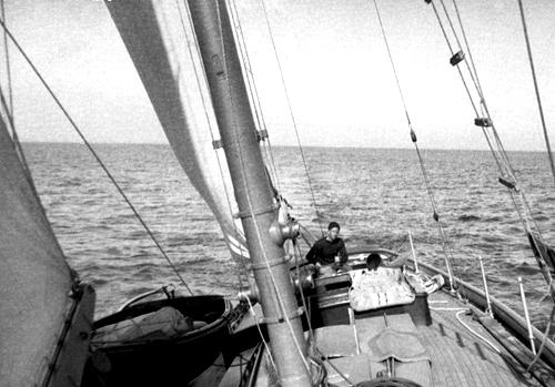 Stephen Etnier aboard schooner Morgana