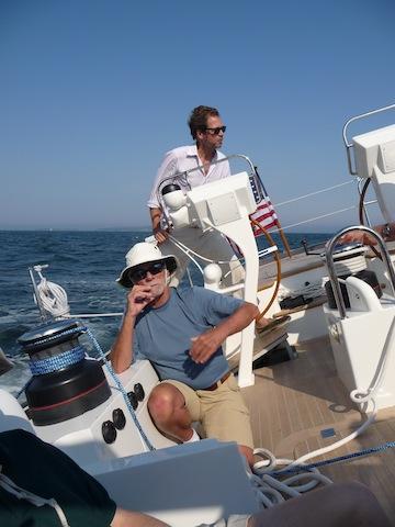 Sailing aboard Isobel