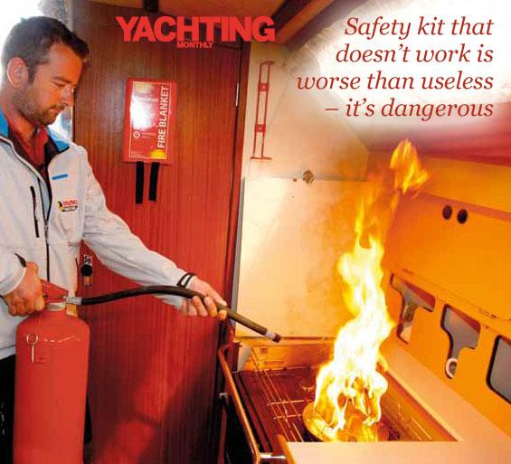 onboard boat fire