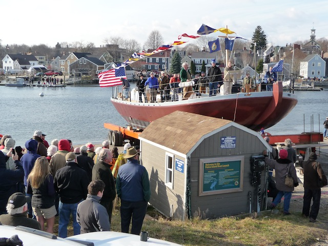 Gundalow launch ceremony