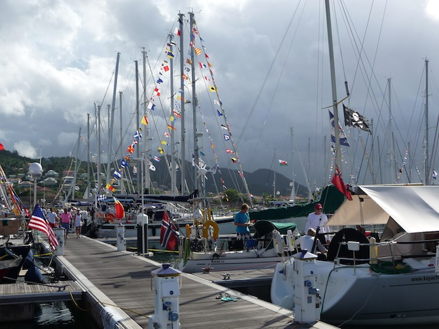 ARC fleet at St. Lucia
