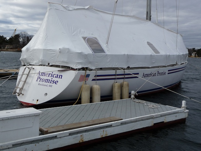 American Promise at Kittery Point Yacht Yard