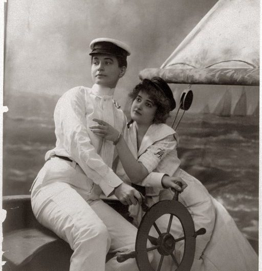 Couple sailing