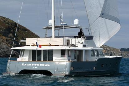 Bamba 50 under sail