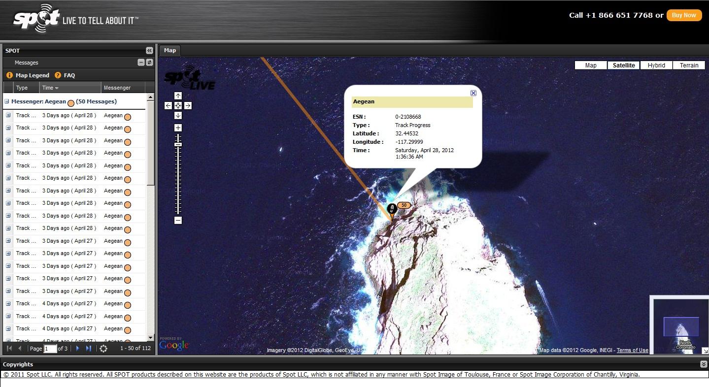 Aegean SPOT track