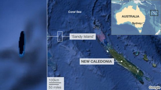 Sandy Island maps