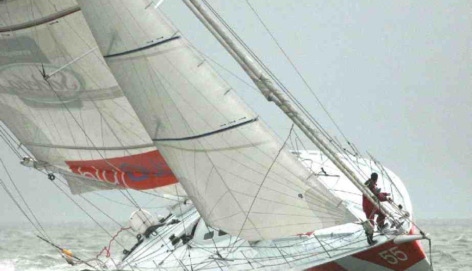Open 60 under sail
