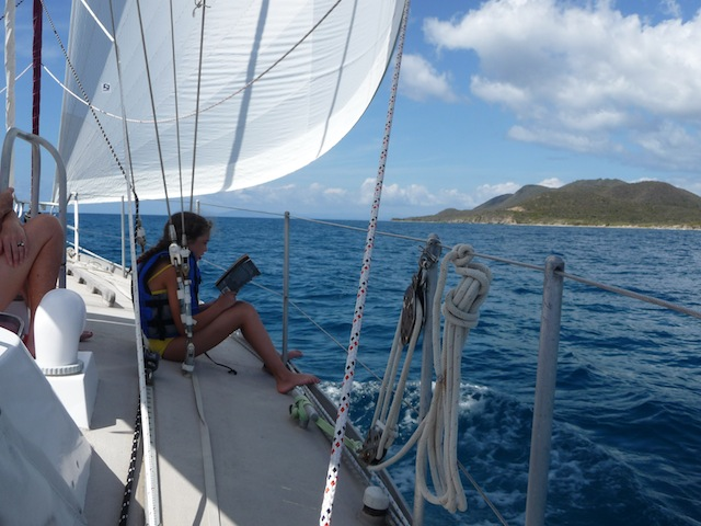 Sailing off Vieques