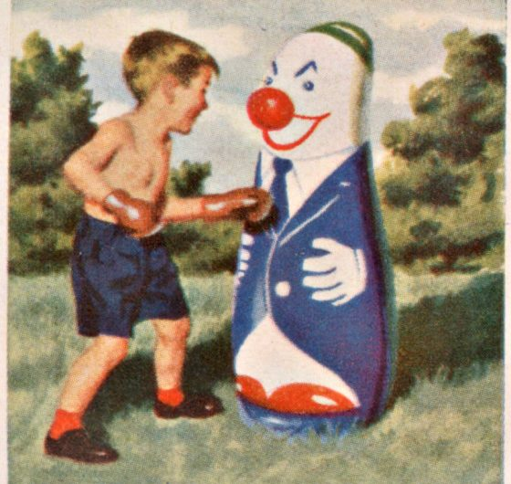 Punching clown