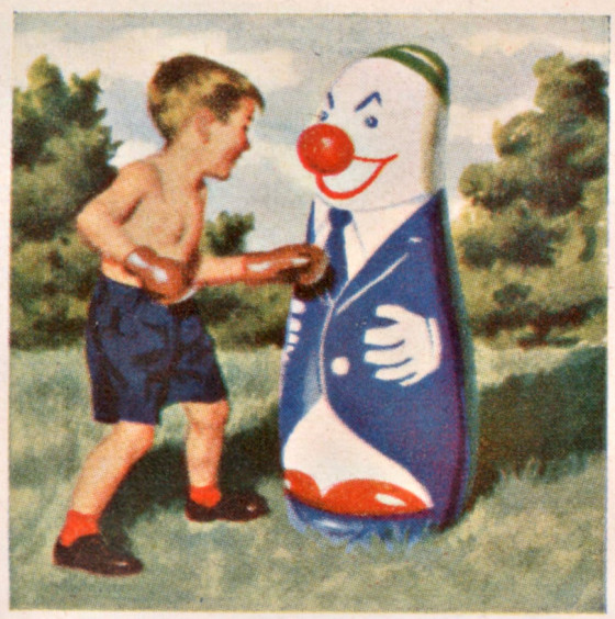 Punching clown