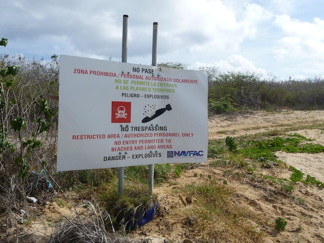 Warning sign Vieques