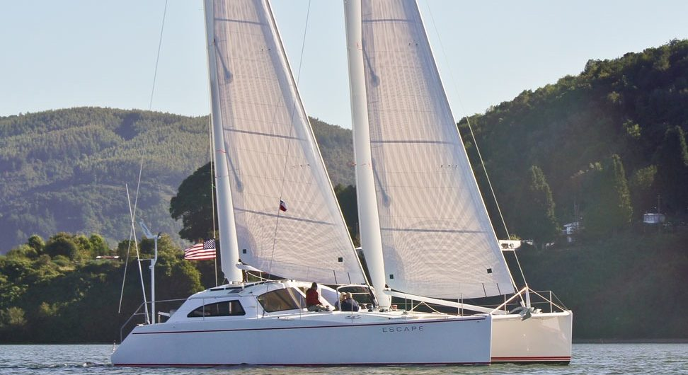 Atlantic 47 under sail