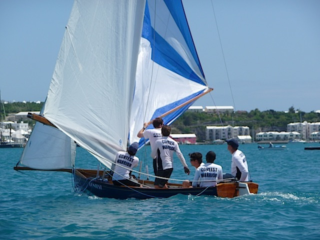 Bermuda dinghy downwind