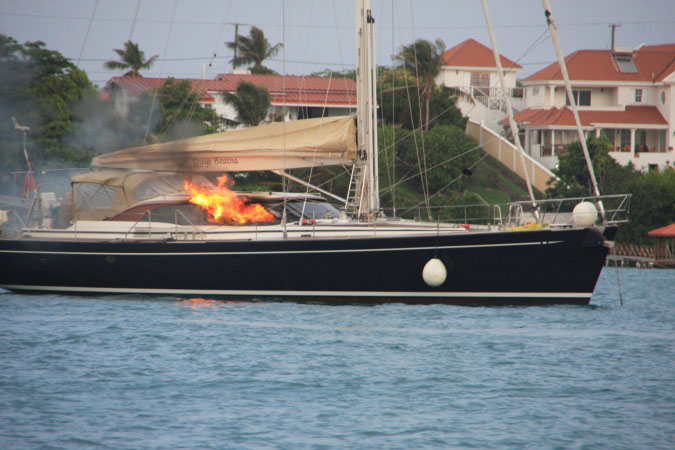 Burning yacht 1