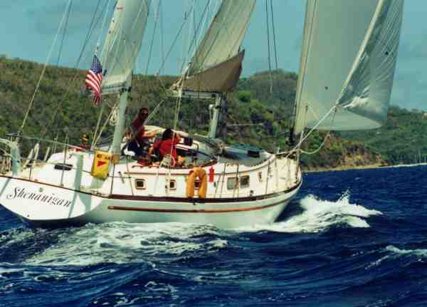 Gulfstar 50 under sail