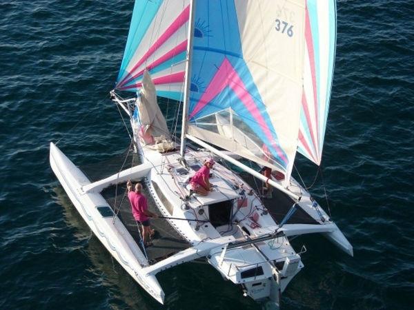 Corsair F27 sailing
