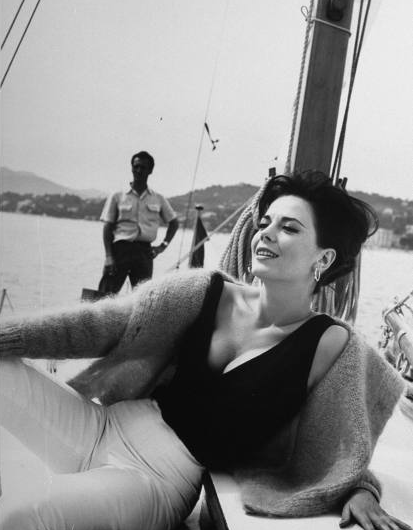 Natalie Wood on boat
