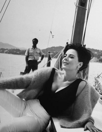 Natalie Wood on boat