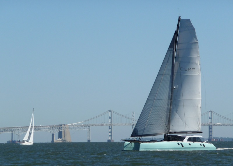 Gunboat 60 under sail
