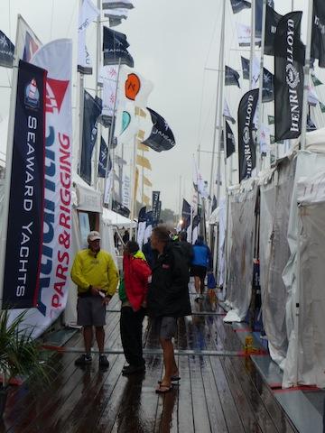 Annapolis sailboat show rain