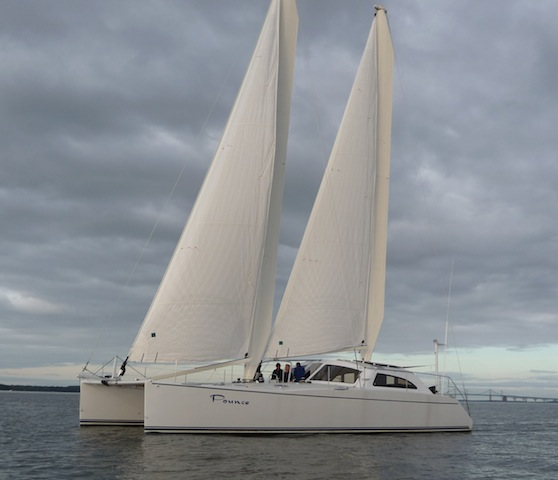 Atlantic 47 under sail