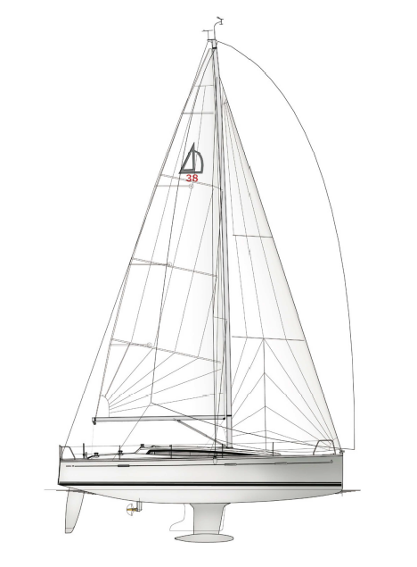 Dehler 38 sailplan profile
