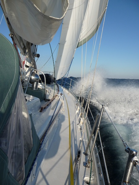 Valiant 40 under sail