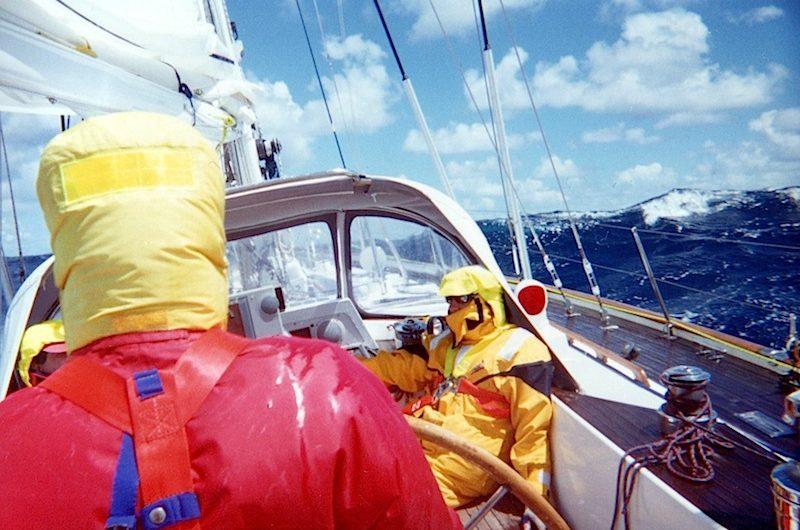 Hobart Race deck scene