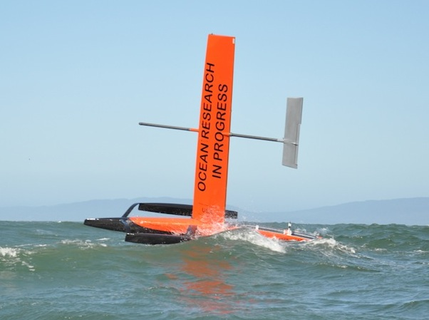 Saildrone under sail