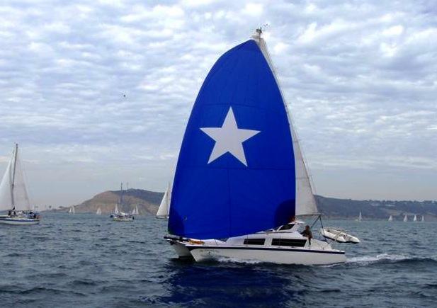 Gemini 3000 under sail