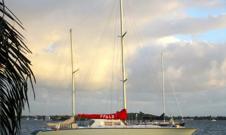 Ppalu at anchor