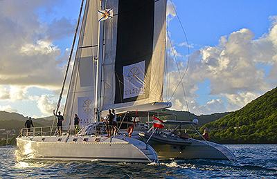 Malisi under sail