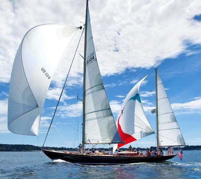 Bolero under sail