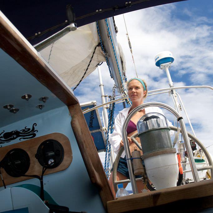 Liz Clark sailing
