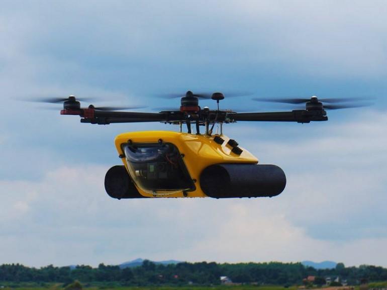 Amphibious drone