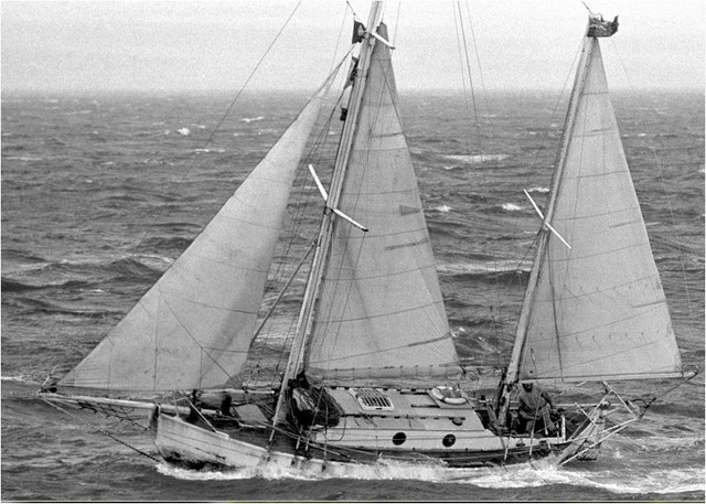 Suhaili under sail