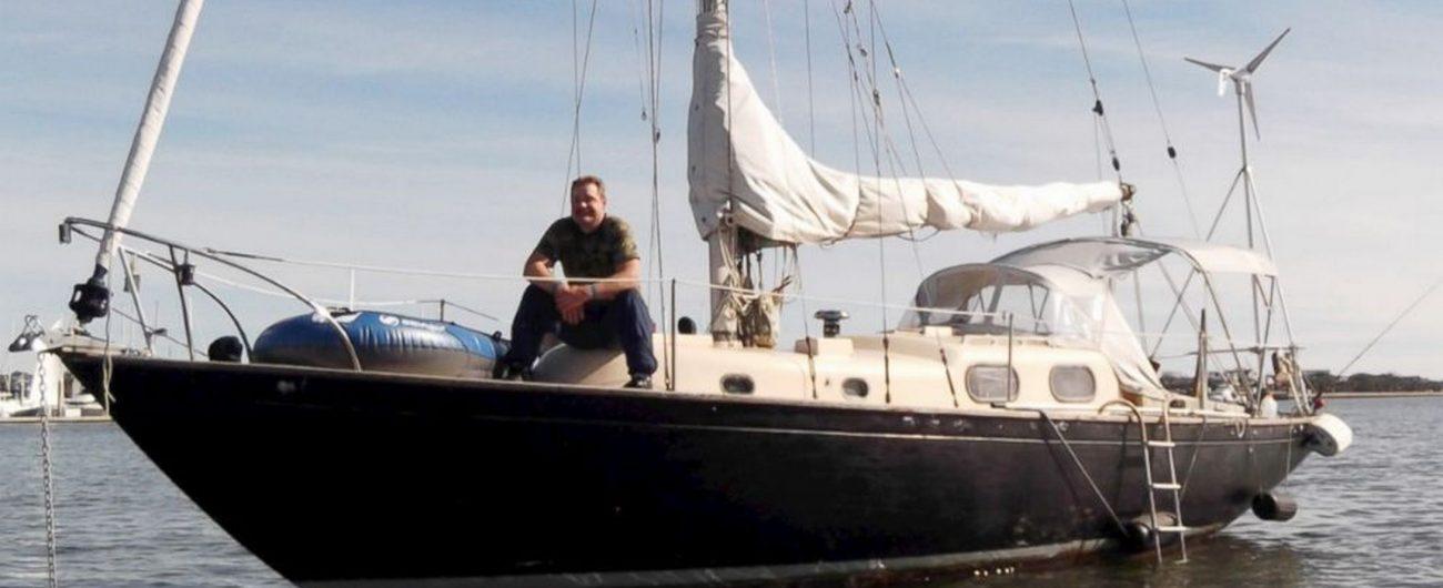 Jordan and boat