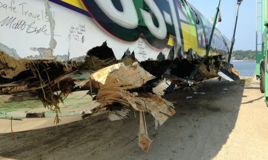 Speedboat damage