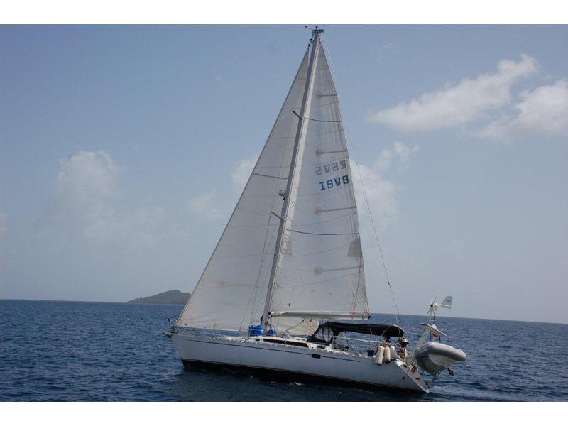 First 38 under sail