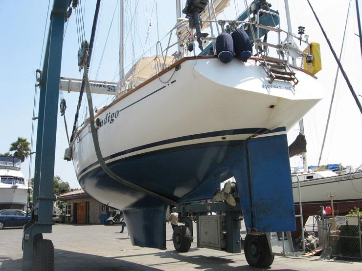 Boat hauled