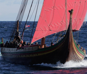 Harald under sail