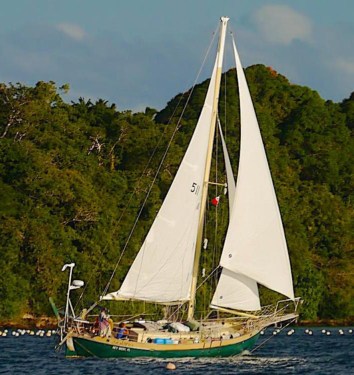 Galena under sail