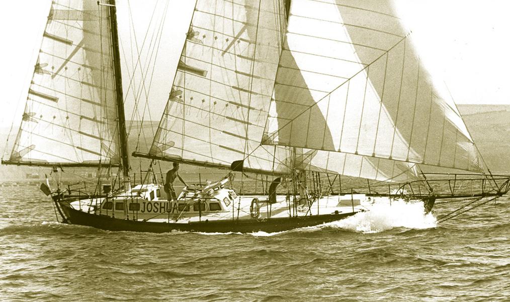 Joshua under sail